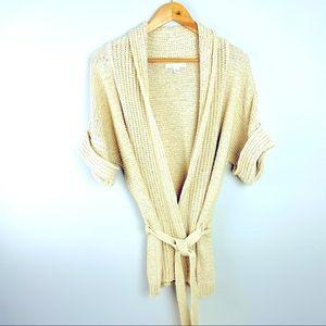 NWOT Sarah Spencer knit boho sweater wrap